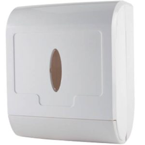 Universal hand towel dispenser